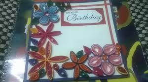 birthday card sharing our experiences