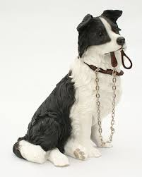 sitting border collie ornament from the walkies range of
