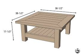 Free Woodworking Plans For Picnic Table by Square Coffee Table W Planked Top Free Diy Plans
