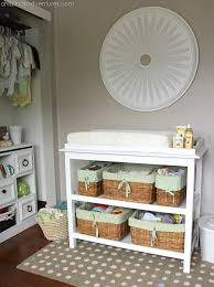 baby changing table basket 15 neutral nursery ideas cloth nappies change tables and