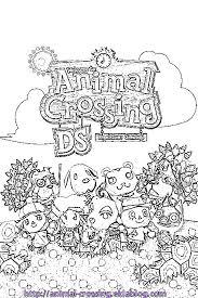 coloriage acww avec des personnages  Le monde danimal crossing ds