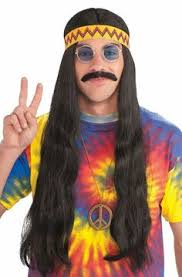 hairstyles for hippies of the 1960s deluxe hippie headband 7 99 party city halloween the