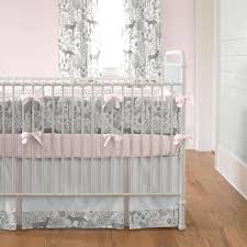 Pink And Gray Crib Bedding Pink And Gray Woodland 3 Crib Bedding Set Carousel Designs