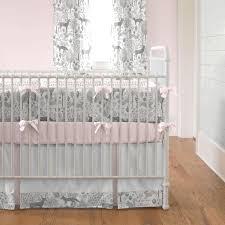 Pink And Gray Woodland 3 Piece Crib Bedding Set Carousel Designs