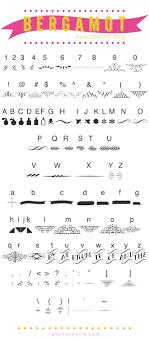 font bergamot ornaments bergamot fonts and ornament