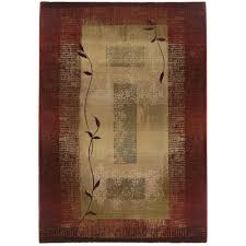Peace Area Rug Home Decorators Collection Peace Brick 2 Ft 3 In X 4 Ft 5 In