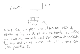 Factoring X2 Bx C Worksheet Determine The Width Students Are Asked To Find The Width Of A