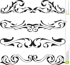 divide victorian design elements set stock vector image 59260243
