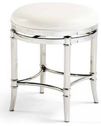 Vanity With Stool Surprise 43 Off Bailey Vanity Stool Chrome With White Faux