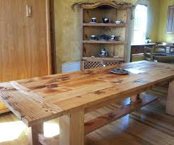 Chunky Rustic Dining Table Rustic Plank Table Solid Oak Pine Wood Coffee Table Chunky