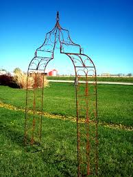 Metal Arches And Pergolas by Wrought Iron Gothic Arch Solid Steel Flower Arbor