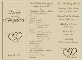 tri fold wedding programs tri fold wedding invitations new free printable wedding programs