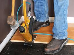 Hardwood Floor Gun How To Install Prefinished Solid Hardwood Flooring How Tos Diy