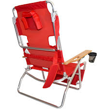 ostrich deluxe 3n1 beach chair lounger red beachstore com