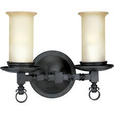 Two Light Bathroom Fixture by Progress Lighting Savannah Collection 2 Light Burnished Chestnut