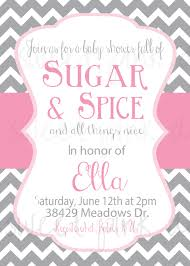 sugar and spice baby shower invitations baby shower for parents