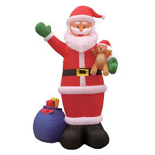 amazon com 12 foot long lighted christmas inflatable santa claus