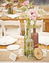 wedding centerpieces with burlap and bottleswedwebtalks wedwebtalks