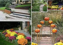 Fall Garden Decorating Ideas Garden Pathway Ideas For Fall