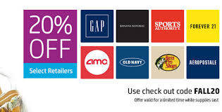 amc gift cards twosmiles by hp 20 select retailer gift cards gap forever