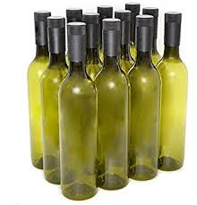 silver wine bottles plastic fillable chagne bottles with silver lids