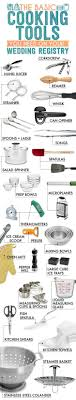 wedding registry for tools basic cooking tools the essential wedding registry checklist for