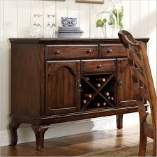 varnished dining room buffet decor with storage that white wood