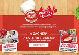 jeu concours cuisine jeu coeur de gagner 1000 moules camembert