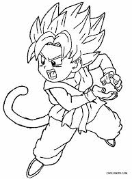 kid goku coloring pages funycoloring