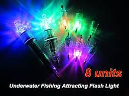 led fish attracting lights 8 pcs underwater led lights fishing attracting light deep drop lure