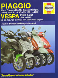 piaggio vespa scooters 1991 2009 service u0026 repair manuals