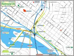 Richmond Virginia Map by Railfan Guide To Richmond Va Downtown