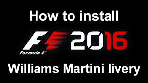 martini logo f1 2016 how to install williams martini red stripe livery youtube