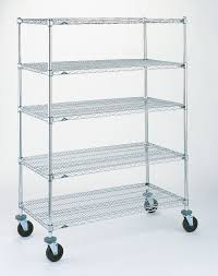 Metro Wire Shelving by Super Erecta Resilient Rubber Stem Caster