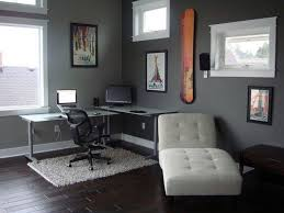 Iron Floor L L Shaped Grey Iron Study Desk And Black Chair On White Rug