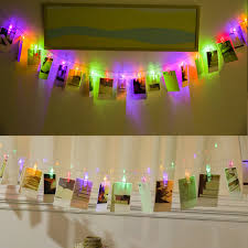 Wedding Home Decoration Battery Powered 10 Led Photo Clip String Christmas Holiday Lights
