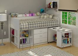 loft beds with desk creative storage red comforter study table