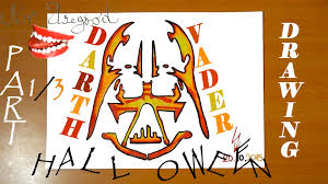 how to draw halloween stuff easy draw darth vader pumpkin carving