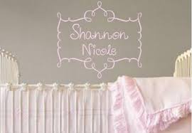 Wall Name Decals For Nursery Personalized Name Decals For Nursery Thenurseries