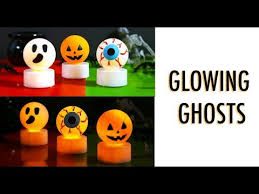 Youtube Halloween Crafts - diy halloween lights how to make glowing tea light candle crafts