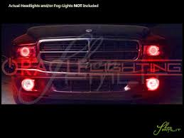 Red Led Light Bulb by 98 03 Dodge Durango Led Halo Rings Head Fog Lights Bulbs