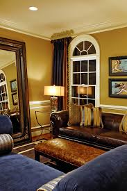 leaner mirror in living room traditional with behr wild honey next