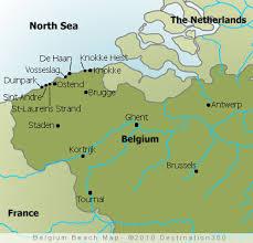belgium in the map belgium beaches map map of belgian beaches