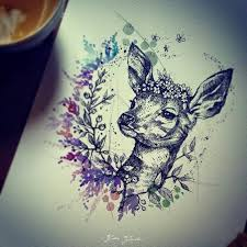 25 gorgeous deer tattoo ideas on pinterest watercolour tattoos