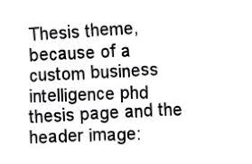 Structure how to structure your dissertation abstract  a thesis submitted for the degree of master of science phd thesis business intelligence
