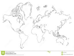 World Blank Map by Outline World Map Stock Photography Image 3557592