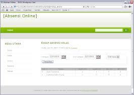 format absensi ujian membuat web absensi online dengan php dan mysql ri32 s weblog