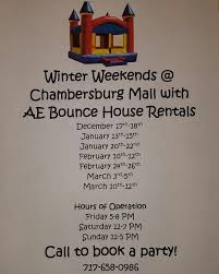 winter bounce weekends at the chambersburg mall ship saves