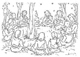 camping coloring pages campfire coloringstar