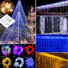 ebay outdoor xmas lights connectable 10 33ft 96 960 led fairy string icicle curtain light